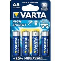 VARTA High Energy Alkáli Ceruza Elem AA 4db-csom