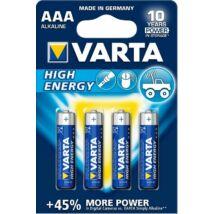 VARTA High Energy Alkáli Mikro Elem AAA 4db-csom