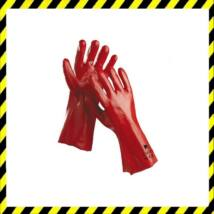 Kesztyű vygen 36 cm-es, bordó sav-, lúg-, olajálló, higiénikus Actifresh kiképzéssel