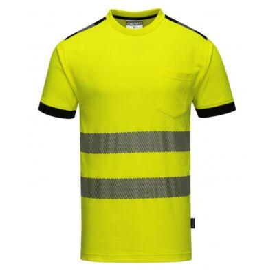Jól láthatósági póló sárga
