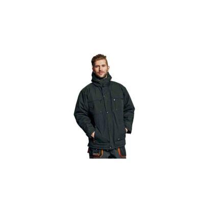 Emerton téli kabát fekete-narancs XL