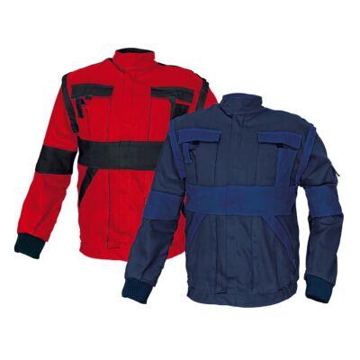 MAX kabát 260 g-m2 piros-fekete 64