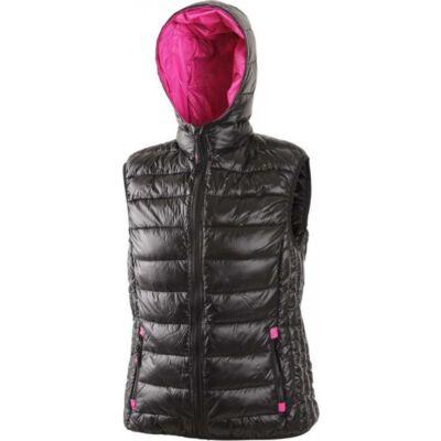 OMAK téli mellény, női, fekete-rózsaszín
