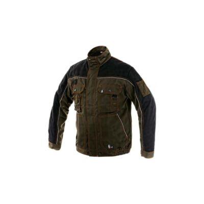 OTAKAR 1147-BL orion kabát,barna-fekete