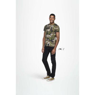 Sol's férfi terepmintás póló