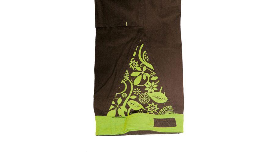 c8b9011da9 Yowie női kertésznadrág barna-zöld - Melles nadrágok