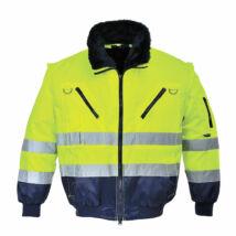 PJ50 - Hi-Vis 3 az 1-ben Pilóta kabát Sárga/Navy