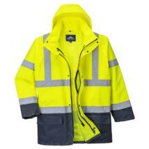 Essential 5az 1-ben kabát sárga-tengerészkék