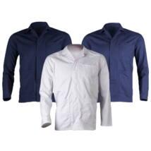 Industry fehér kabát 65%pes-35%pamut, 245gr