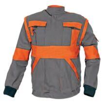 Max kabát 260g-m2 szürke-narancs