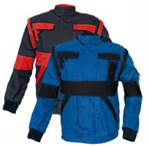 MAX kabát 260 g-m2 fekete-piros