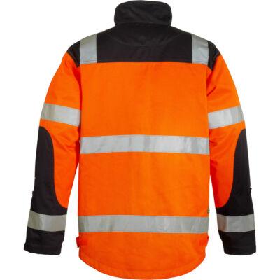 Patrol kabát NARANCS/KÉK, rejtett gombolás, három zseb, hat darab 3M-es csík