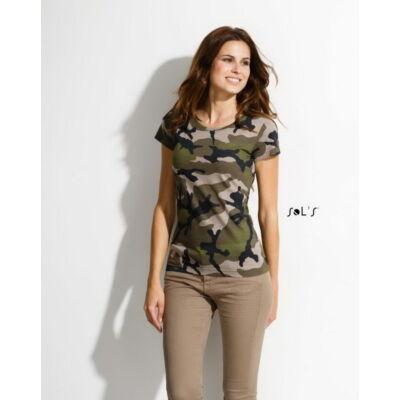 Sol's női terepmintás póló XL