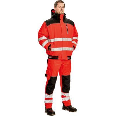 Knoxfield Hi-Vis pilóta dzseki piros, sárga-narancs
