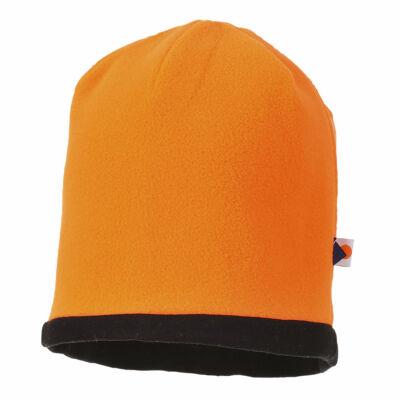 HA14 - Kifordítható HiVis sapka Narancs/Fekete