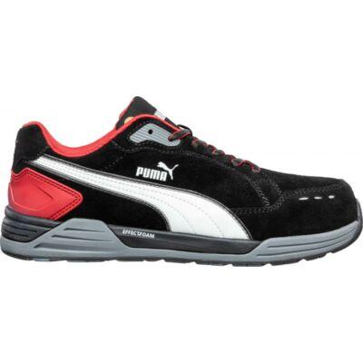 Puma Airtwist Blk Red Low S3 ESD HRO SRC munkavédelmi cipő