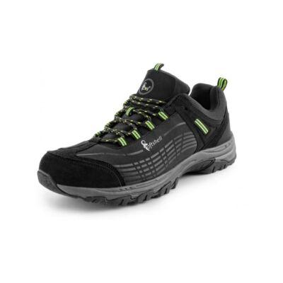 CXS SPORT softshell félcipő, fekete/zöld