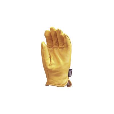 Kesztyű alaszka - sárga borjúbőr, 3M polárbéléssel