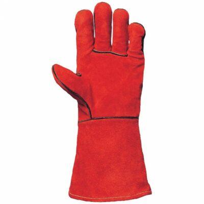 Kesztyű szikra- és hőálló marhahasíték, piros